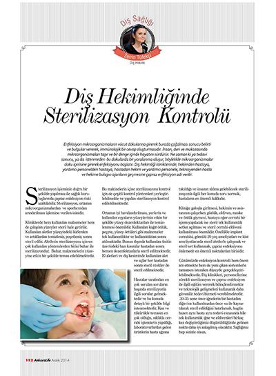Zerrin Tüfekçi - Diş Hekimliğinde Sterilizasyon Kontrolü