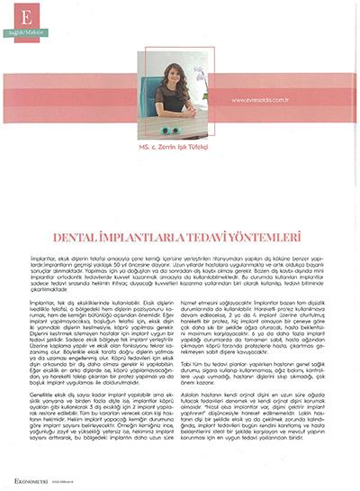 Zerrin Tüfekçi - Dental İmplantlarla Tedavi Yöntemleri