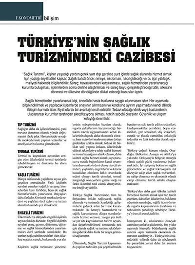 Zerrin Tüfekçi - Türkiye'nin Sağlık Turizmindeki Cazibesi