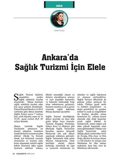 Zerrin Tüfekçi - Ankarada Sağlık Turizmi İçin El Ele